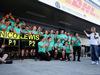 GP RUSSIA, 01.05.2016 - Gara, Festeggiamenti, 1st position Nico Rosberg (GER) Mercedes AMG F1 W07 Hybrid e secondo Lewis Hamilton (GBR) Mercedes AMG F1 W07 Hybrid