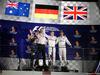 GP SINGAPORE, 18.09.2016 - Gara, secondo Daniel Ricciardo (AUS) Red Bull Racing RB12, Nico Rosberg (GER) Mercedes AMG F1 W07 Hybrid vincitore e terzo Lewis Hamilton (GBR) Mercedes AMG F1 W07 Hybrid