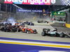 GP SINGAPORE, 18.09.2016 - Gara, Start of the race e Nico Hulkenberg (GER) Sahara Force India F1 VJM09 crashes out