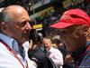 GP SPAGNA, 15.05.2016- Gara, Ron Dennis (GBR) McLaren Executive Chairman e Nikki Lauda (AU), Mercedes