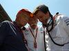 GP SPAGNA, 15.05.2016- Gara, (L-R) Nikki Lauda (AU), Mercedes, Dr. Dieter Zetsche, Chairman of Daimler e Toto Wolff (GER) Mercedes AMG F1 Shareholder e Executive Director