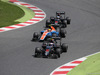 GP SPAGNA, 15.05.2016- Gara 2, Jenson Button (GBR)  McLaren Honda MP4-31 e Pascal Wehrlein (GER) Manor Racing MRT05