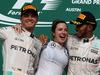 GP USA, 23.10.2016 - Gara, secondo Nico Rosberg (GER) Mercedes AMG F1 W07 Hybrid, Victoria Vowles, Lewis Hamilton (GBR) Mercedes AMG F1 W07 Hybrid vincitore