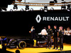 RENAULT F1 PRESENTAZIONE 2016, Frederic Vasseur (FRA) Renault Sport Formula One Team Racing Director, Carlos Ghosn (FRA) Chairman of Renault, Kevin Magnussen (DEN) Renault Sport Formula One Team, Jolyon Palmer (GBR), Renault Sport Formula One Team e Esteban Ocon (FRA), Renault Sport Formula One Team  03.02.2016.