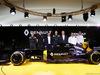 RENAULT F1 PRESENTAZIONE 2016, (L to R): Kevin Magnussen (DEN) Renault Sport Formula One Team; Esteban Ocon (FRA) Renault Sport Formula One Team Test Driver; Carlos Ghosn (FRA) Chairman of Renault; Jolyon Palmer (GBR) Renault Sport Formula One Team; Jerome Stoll (FRA) Renault Sport F1 President; Frederic Vasseur (FRA) Renault Sport Formula One Team Racing Director; Cyril Abiteboul (FRA) Renault Sport F1 Managing Director. 03.02.2016.