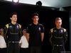 RENAULT F1 PRESENTAZIONE 2016, (L to R): Jolyon Palmer (GBR) Renault Sport Formula One Team with Esteban Ocon (FRA) Renault Sport Formula One Team Test Driver e Kevin Magnussen (DEN) Renault Sport Formula One Team. 03.02.2016.