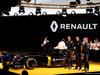 RENAULT F1 PRESENTAZIONE 2016, (L to R): Carlos Ghosn (FRA) Chairman of Renault with Jolyon Palmer (GBR) Renault Sport Formula One Team; Esteban Ocon (FRA) Renault Sport Formula One Team Test Driver; e Kevin Magnussen (DEN) Renault Sport Formula One Team. 03.02.2016.