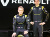 RENAULT F1 PRESENTAZIONE 2016, (L to R): Kevin Magnussen (DEN) Renault Sport Formula One Team with Jolyon Palmer (GBR) Renault Sport Formula One Team. 03.02.2016.