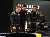 RENAULT F1 PRESENTAZIONE 2016, (L to R): Kevin Magnussen (DEN) Renault Sport Formula One Team with Esteban Ocon (FRA) Renault Sport Formula One Team Test Driver e Jolyon Palmer (GBR) Renault Sport Formula One Team. 03.02.2016.