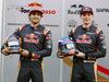 TEST F1 BARCELLONA 1 MARZO, (L to R): Carlos Sainz Jr (ESP) Scuderia Toro Rosso with team mate Max Verstappen (NLD) Scuderia Toro Rosso. 01.03.2016.