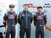TEST F1 BARCELLONA 1 MARZO, (L to R): Max Verstappen (NLD) Scuderia Toro Rosso with James Key (GBR) Scuderia Toro Rosso Technical Director e Carlos Sainz Jr (ESP) Scuderia Toro Rosso. 01.03.2016.