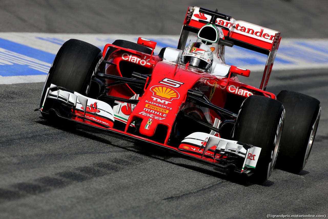 TEST F1 BARCELLONA 22 FEBBRAIO, Sebastian Vettel (GER), Ferrari  22.02.2016.