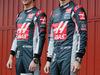TEST F1 BARCELLONA 22 FEBBRAIO, (L to R): Esteban Gutierrez (MEX) Haas F1 Team e team mate Romain Grosjean (FRA) Haas F1 Team unveil the Haas VF-16. 22.02.2016.