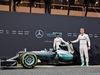 TEST F1 BARCELLONA 22 FEBBRAIO, Nico Rosberg (GER) Mercedes AMG F1 e team mate Lewis Hamilton (GBR) Mercedes AMG F1 unveil the Mercedes AMG F1 W07 Hybrid. 22.02.2016.