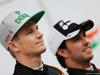 TEST F1 BARCELLONA 22 FEBBRAIO, (L to R): Nico Hulkenberg (GER) Sahara Force India F1 with team mate Sergio Perez (MEX) Sahara Force India F1. 22.02.2016.