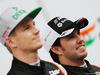 TEST F1 BARCELLONA 22 FEBBRAIO, Sergio Perez (MEX) Sahara Force India F1 (Right) with team mate Nico Hulkenberg (GER) Sahara Force India F1. 22.02.2016.