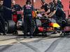 TEST F1 BARCELLONA 23 FEBBRAIO, Daniel Ricciardo (AUS) Red Bull Racing RB11 in the pits. 23.02.2016.