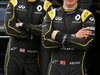 TEST F1 BARCELLONA 23 FEBBRAIO, (L to R): Jolyon Palmer (GBR) Renault Sport F1 Team with team mate Kevin Magnussen (DEN) Renault Sport F1 Team. 23.02.2016.