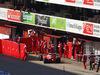 TEST F1 BARCELLONA 25 FEBBRAIO, Kimi Raikkonen (FIN) Ferrari SF16-H in the pits. 25.02.2016.