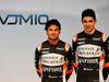 FORCE INDIA VJM10, (L to R): Sergio Perez (MEX) Sahara Force India F1 with team mate Esteban Ocon (FRA) Sahara Force India F1 Team. 22.02.2017.