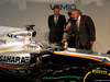 FORCE INDIA VJM10, (L to R): Andrew Green (GBR) Sahara Force India F1 Team Technical Director; Sergio Perez (MEX) Sahara Force India F1; Dr. Vijay Mallya (IND) Sahara Force India F1 Team Owner; e the Sahara Force India F1 VJM10. 22.02.2017.