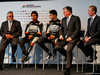 FORCE INDIA VJM10, (L to R): Dr. Vijay Mallya (IND) Sahara Force India F1 Team Owner; Sergio Perez (MEX) Sahara Force India F1; Esteban Ocon (FRA) Sahara Force India F1 Team; Otmar Szafnauer (USA) Sahara Force India F1 Chief Operating Officer; Andrew Green (GBR) Sahara Force India F1 Team Technical Director. 22.02.2017.