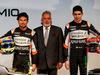 FORCE INDIA VJM10, (L to R): Sergio Perez (MEX) Sahara Force India F1 with Dr. Vijay Mallya (IND) Sahara Force India F1 Team Owner e Esteban Ocon (FRA) Sahara Force India F1 Team. 22.02.2017.