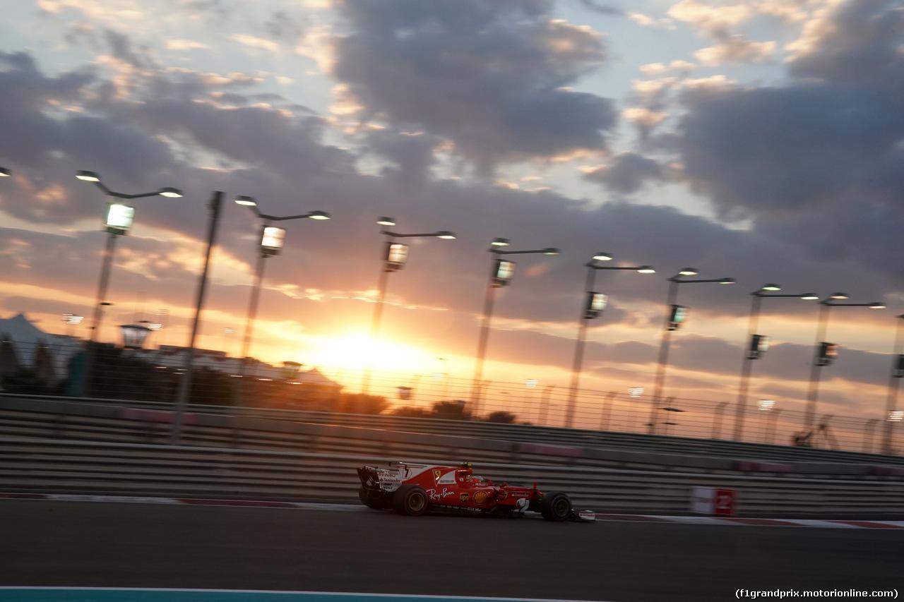 GP ABU DHABI, 26.11.2017 - Gara, Kimi Raikkonen (FIN) Ferrari SF70H