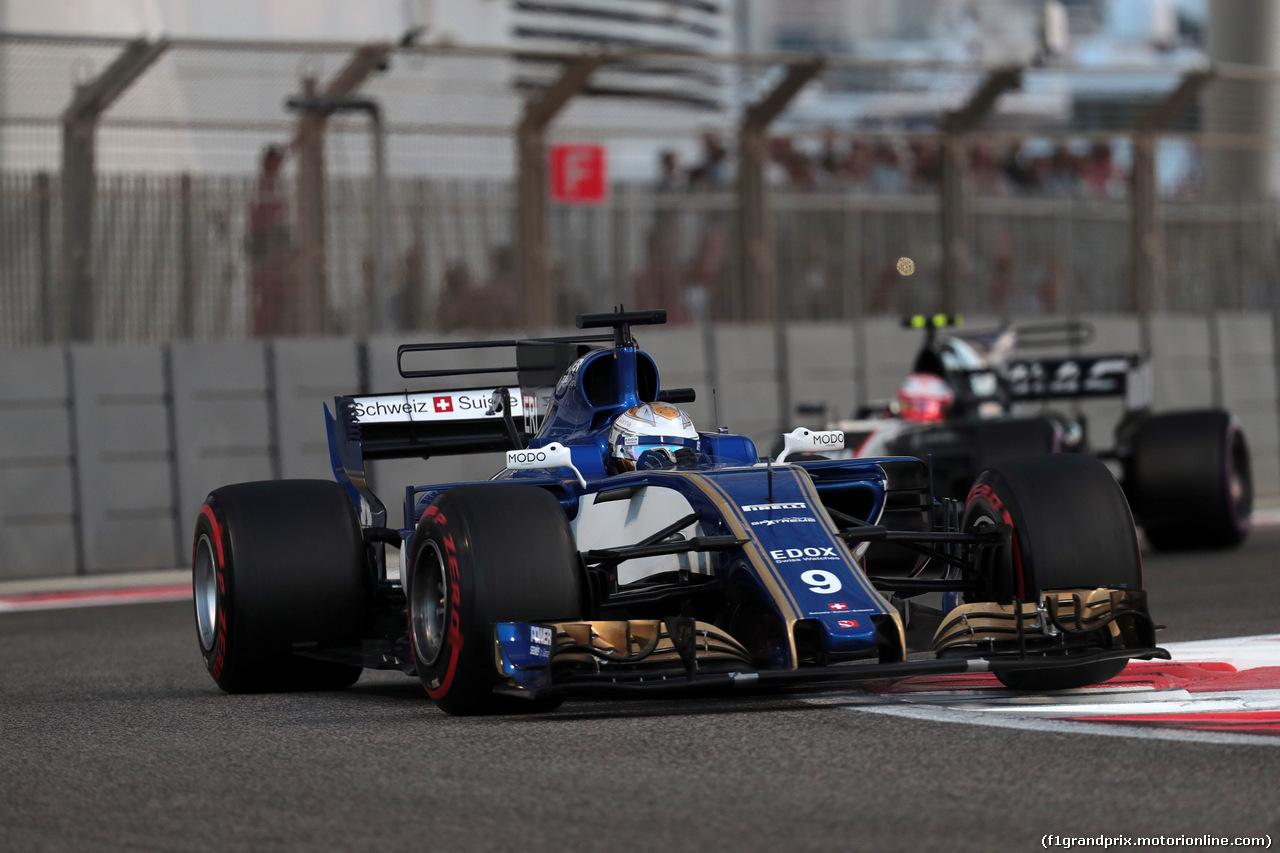 GP ABU DHABI, 26.11.2017 - Gara, Marcus Ericsson (SUE) Sauber C36
