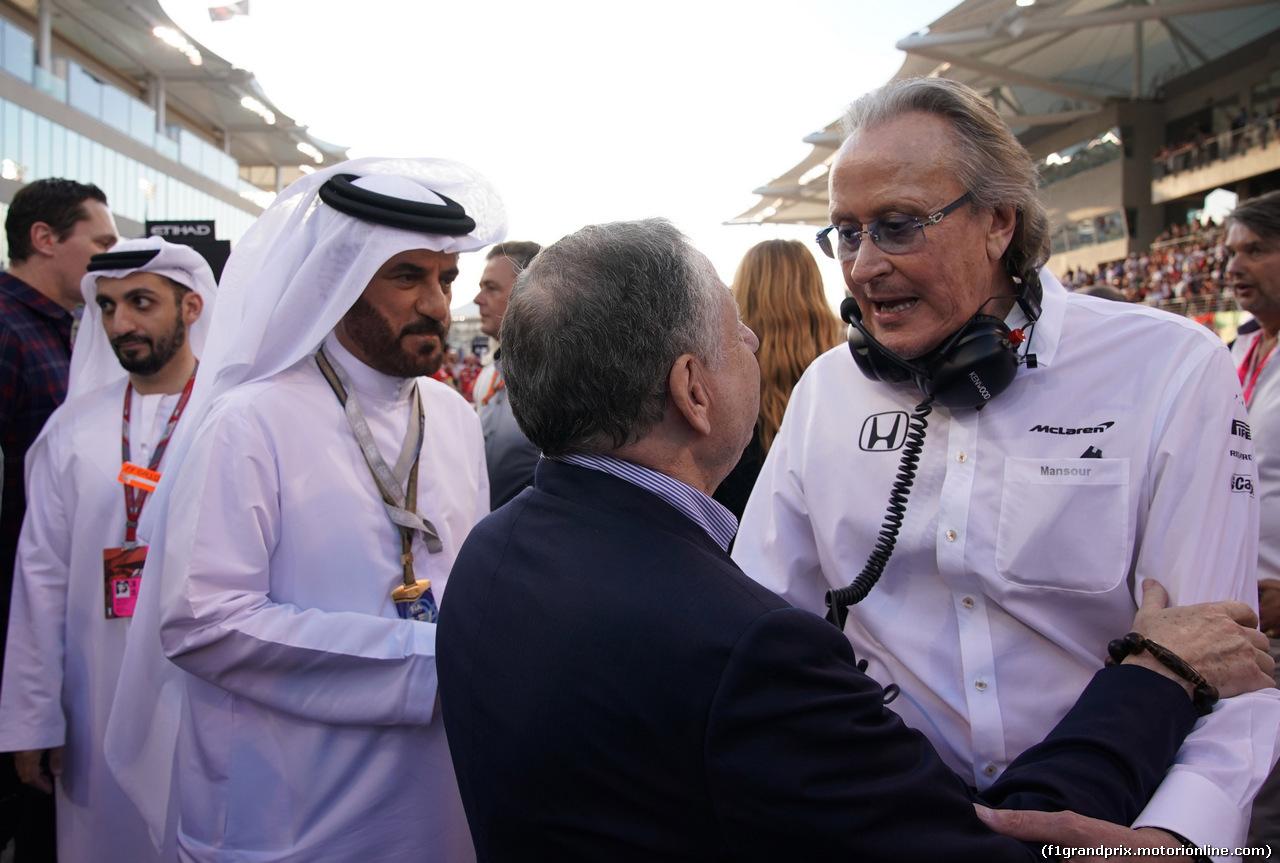 GP ABU DHABI, 26.11.2017 - Gara, Jean Todt (FRA), President FIA e Mansour Ojeh, McLaren shareholder