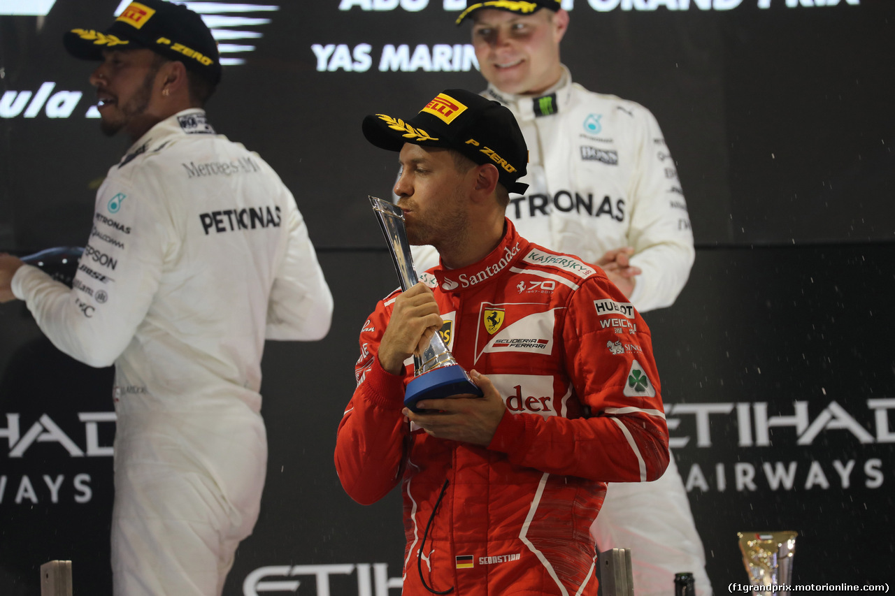 GP ABU DHABI, 26.11.2017 - Gara, 3rd place Sebastian Vettel (GER) Ferrari SF70H