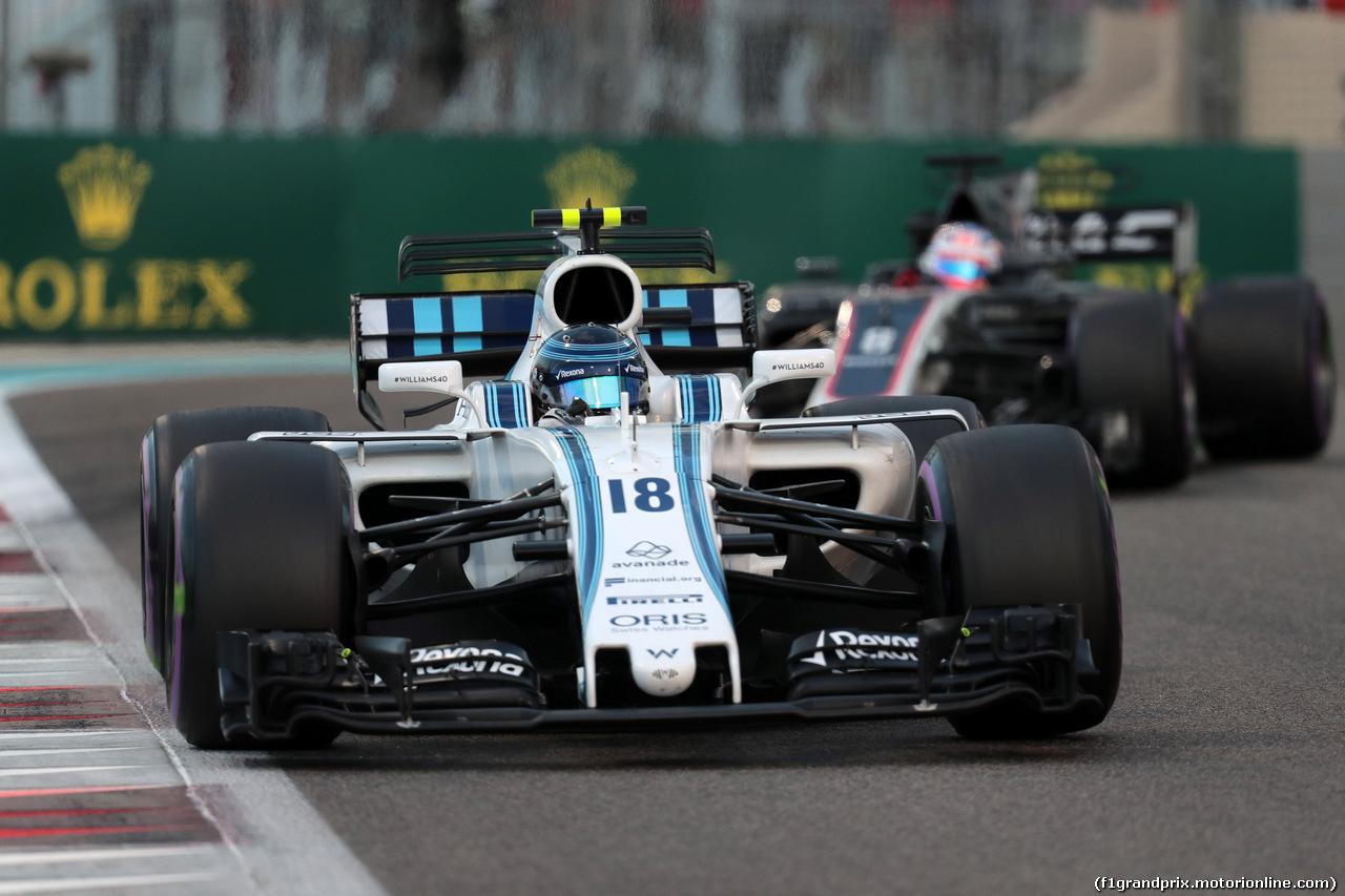 GP ABU DHABI, 26.11.2017 - Gara, Lance Stroll (CDN) Williams FW40