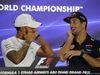 GP ABU DHABI, 23.11.2017 -  Conferenza Stampa, Lewis Hamilton (GBR) Mercedes AMG F1 W08 e Daniel Ricciardo (AUS) Red Bull Racing RB13