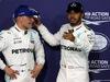 GP ABU DHABI, 25.11.2017 - Qualifiche, Valtteri Bottas (FIN) Mercedes AMG F1 W08 pole position e 2nd place Lewis Hamilton (GBR) Mercedes AMG F1 W08