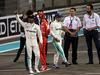 GP ABU DHABI, 25.11.2017 - Qualifiche, 2nd place Lewis Hamilton (GBR) Mercedes AMG F1 W08 e Valtteri Bottas (FIN) Mercedes AMG F1 W08 pole position