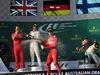 GP AUSTRALIA, 26.03.2017 - Gara, 1st place Sebastian Vettel (GER) Ferrari SF70H, 2nd place Lewis Hamilton (GBR) Mercedes AMG F1 W08 e 3rd place Valtteri Bottas (FIN) Mercedes AMG F1 W08 with Luigi Fraboni Ferrari Head of Engine Trackside Operations