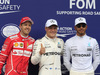 GP AUSTRIA, 08.07.2017- Pole position celebration: Pole Valtteri Bottas (FIN) Mercedes AMG F1 W08, 2nd place Sebastian Vettel (GER) Ferrari SF70H, 3rd place Lewis Hamilton (GBR) Mercedes AMG F1 W08