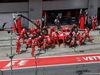 GP AUSTRIA, 09.07.2017- Sebastian Vettel (GER) Ferrari SF70H during pit stop