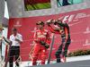 GP AUSTRIA, 09.07.2017- podium, winner Valtteri Bottas (FIN) Mercedes AMG F1 W08, 2nd Sebastian Vettel (GER) Ferrari SF70H, 3rd Daniel Ricciardo (AUS) Red Bull Racing RB13