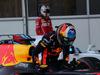 GP AZERBAIJAN, 25.06.2017 - Gara, Daniel Ricciardo (AUS) Red Bull Racing RB13 vincitore e Sebastian Vettel (GER) Ferrari SF70H