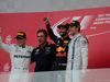 GP AZERBAIJAN, 25.06.2017 - Gara, 1st place Daniel Ricciardo (AUS) Red Bull Racing RB13, 2nd place Valtteri Bottas (FIN) Mercedes AMG F1 W08 e 3rd place Lance Stroll (CDN) Williams FW40