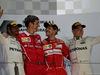 GP BAHRAIN, 16.04.2017 - Gara, 1st place Sebastian Vettel (GER) Ferrari SF70H, 2nd place Lewis Hamilton (GBR) Mercedes AMG F1 W08 e 3rd place Valtteri Bottas (FIN) Mercedes AMG F1 W08