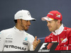 GP BAHRAIN, 16.04.2017 - Gara, Conferenza Stampa, Lewis Hamilton (GBR) Mercedes AMG F1 W08 e Sebastian Vettel (GER) Ferrari SF70H