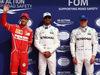 GP BELGIO, 26.08.2017 - Qualifiche, 2nd place Sebastian Vettel (GER) Ferrari SF70H, Lewis Hamilton (GBR) Mercedes AMG F1 W08 pole position e 3rd place Valtteri Bottas (FIN) Mercedes AMG F1 W08