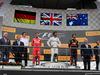 GP BELGIO, 27.08.2017 -  Gara, 1st place Lewis Hamilton (GBR) Mercedes AMG F1 W08, 2nd place Sebastian Vettel (GER) Ferrari SF70H e 3rd place Daniel Ricciardo (AUS) Red Bull Racing RB13