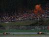 GP BELGIO, 27.08.2017 -  Gara, Daniel Ricciardo (AUS) Red Bull Racing RB13 e Max Verstappen (NED) Red Bull Racing RB13