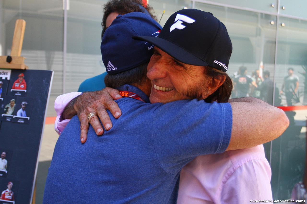 GP BRASILE, 12.11.2017 - Rubens Barrichello (BRA) e Emerson Fittipaldi (BRA)