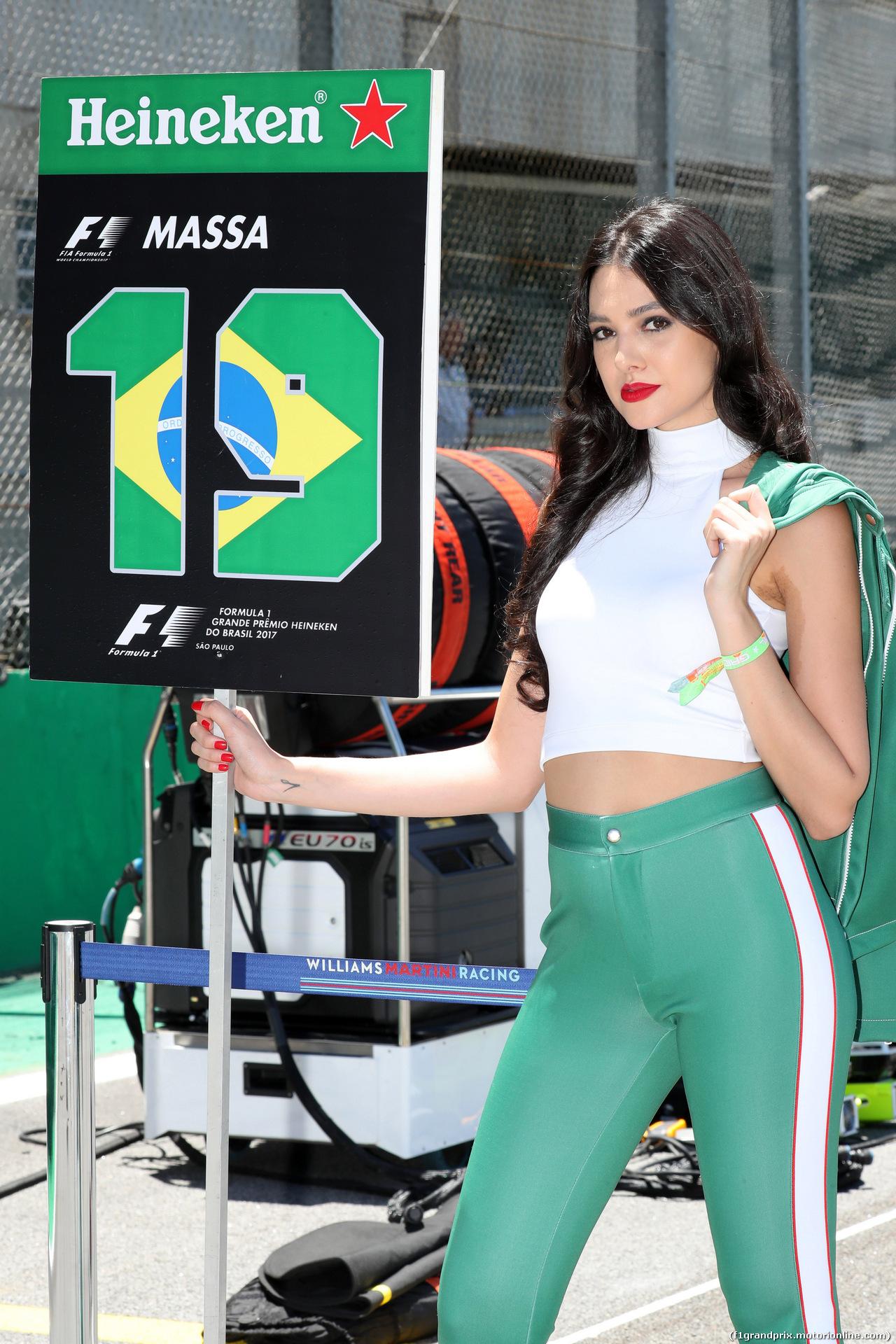 GP BRASILE, 12.11.2017 - Gara, griglia Ragazza