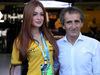 GP BRASILE, 12.11.2017 - Marina Ruy Barbosa (BRA) Actress e Alain Prost (FRA) Renault Sport F1 Team Special Advisor