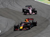 GP BRASILE, 12.11.2017 - Gara, Max Verstappen (NED) Red Bull Racing RB13 e Sergio Perez (MEX) Sahara Force India F1 VJM010